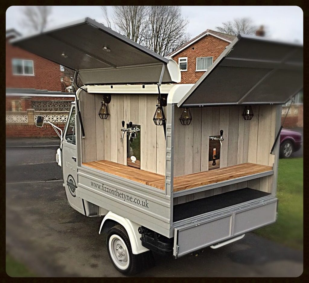 We can decorate our chic, vintage van to suit your event.